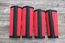 Fly Protection Leg Wraps/Leggings For Horses, TAPERED Fly Boots Set Of 4,Red