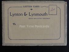 Devon LYNTON & LYNMOUTH 8 Image - Old Letter Card by E.T.W. Dennis