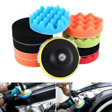 12x 5'' Buffing Waxing Polishing Sponge Pads Drill Adapter Kit For Car Polisher