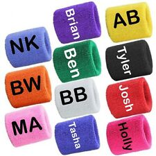 Personalised 2 Sports Wrist Sweatbands Tennis Squash Badminton GYM Wristband UK