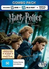Harry Potter And The Deathly Hallows : Part 1 (Blu-ray 2011,4-Disc Set) region B