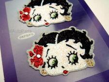 2 Betty Boop Bling gem Kit Rhinestones Glitter Decal Stickers for car/truck/bike