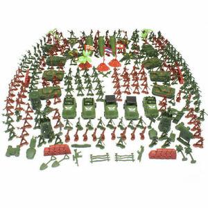 Plastik Soldaten Satz Militär Figuren Panzer Düsenjet Spielzeug ca. 307-teilig!