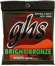 GHS Bright Bronze Acoustic Guitar Strings BB20X extra light gauge 11-50