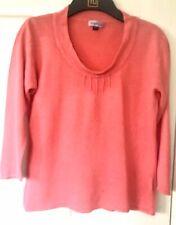 Pink Fine Knit Scoop Neck Jumper - M/L