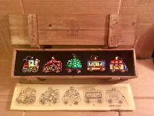 Thomas Pacconi Classics Blown Glass Christmas Ornament 5 Pcs Train Set