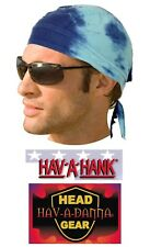 Hav-A-Hank-Danna BLUE TIE-DYE DO DOO RAG FITTED Tied BANDANA Skull Cap Head Wrap