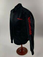 Vintage Hondaline Honda Black Satin Jacket Size Large