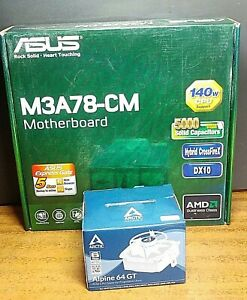 Asus M3A78-CM motherboard bundle all tested and working