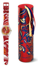 Swatch Rockin' Rooster Watch suoz226 Analogue Plastic Red, White
