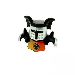 1x LEGO Duplo Figurine Knight Helmet Black Silver Grey Dragons 4253855 51727pb01