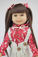 "45CM 18"" Likelift semi-soft vinyl baby doll education toy girl birthday gift new"
