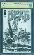 Walking Dead 1 CBCS SS 9.9 Steve Lieber Sketch Variant Signed up CGC 9.8
