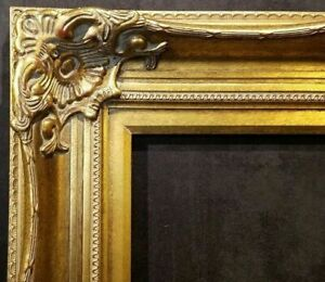 """5"""" WIDE Premium Gold Ornate Oil Painting Wood Picture Frame 801G 36""""x48"""""""