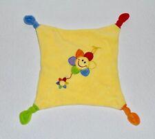Schmusetuch Sparkasse Blume / Sonne gelb bunt Schnuffeltuch Kuscheltuch wie NEU