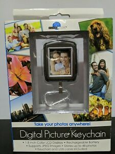 """Digital Picture Keychain 1.5""""x1"""" Screen - New"""