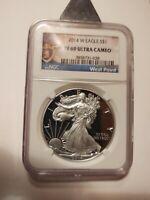 2014 w american silver eagle proof