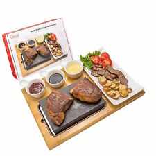 Cooking Stone- Lava Hot Steak Stone Plate and Cold Lava Rock Hibachi Grilling...