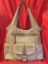 FOSSIL ... Beige  Canvas  Tote  Handbag ... NEW