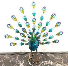 Large HandMade Metal Craft Peacock Indoor Outdoor Pond Garden Ornament Sculpture
