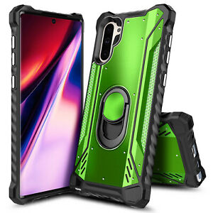 For Samsung Galaxy Note 10 / Note 10 Plus Case Metal Magnetic Ring Stand Cover