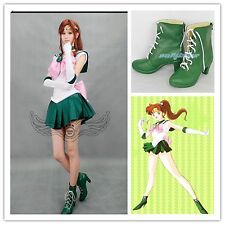 Sailor Moon Sailor Jupiter Green Cosplay shoes boots Custome Customized SE207
