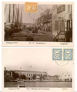 CURACAO 1937 - 2 x FOTO PPC --XF