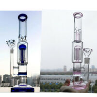 Hot Beaker Blue  Pink Straight Glass Smoking Water Pipe Bongs with 14.4mm Bowl