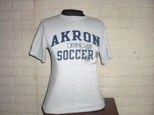 AKRON ZIPS SOCCER gray shirt t-shirt men's Medium