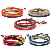 1PC Fashion Handmade Weave Colorful Knots Lucky Thread Rope Bracelet Adjustable