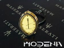 Maserati goldene ovale Uhr Borduhr Gold Vergoldet oval Analog Biturbo RHD
