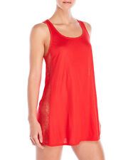 La Perla Silk Knit Short Nightie Babydoll XS Rose Coral Lace Inserts New