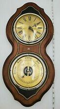 "BULOVA 23"" Quartz Wall Clock & Compensated Barometer Weather Station"