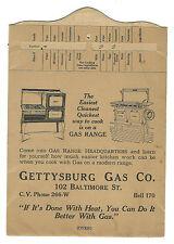 1924 Advertising Premium Candy Recipes Slide Gettysburg Gas Co PA Range Fudge