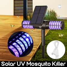 Solar Powered Outdoor IP65 Mosquito Fly Bug Insect Zapper Killer Trap Lamp NEW