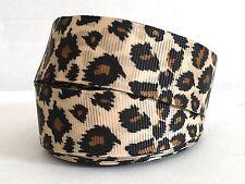1M X 22mm Grosgrain Ribbon Craft DIY Decorations Hair Bows Double Size Leopard