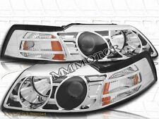 99-04 Ford Mustang GT / V6 / Cobra Projector Headlights Chrome Clear