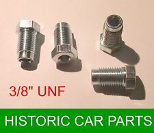 """4 - 3/8"""" UNF Male STEEL Plated Brake Nuts for MGB Roadster & MGBGT 1962-78"""