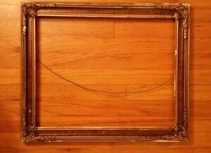 Old Vintage Picture Frame Ornate Wooden Large