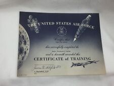 Vintage United States Air Force Certificate of Training 1966 24947
