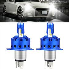 H4 9003 HB2 LED Headlight Bulb Conversion Kit High Low Beam 6000K 7600LM White