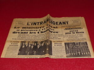 "[ Press WW2 Front Guerre] THE INTRANSIGENT #8 June 1935 Normandy "" Van Dongen"