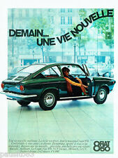 PUBLICITE ADVERTISING 036  1965  Fiat la 850 coupé