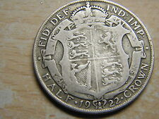 GB GV 1/2 SILVER HALFCROWN 1922 IN GOOD COLLECTABLE CONDITION 2 AVAILABLE