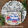DecoWords Cute Do Not Disturb Privacy SIGN Door Knob / Door Bell hanger USA NEW