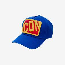 Dsquared2 Icon Square Badge Cap - Blue