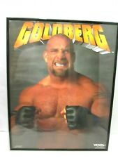 GOLDBERG VINTAGE 1998 WCW WRESTLING STARLINE POSTER FRAMED GLASS