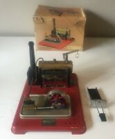 MAMOD SP4 LIVE STEAM STATIONARY ENGINE WITH BURNER & BOX ~ GOOD USED CONDITION