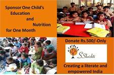 Support One Child's Nutrition & Education for One Month