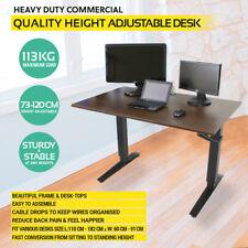 Standing Desk Stand Up Desk Height Adjustable Computer Table DARK WALNUT CLR